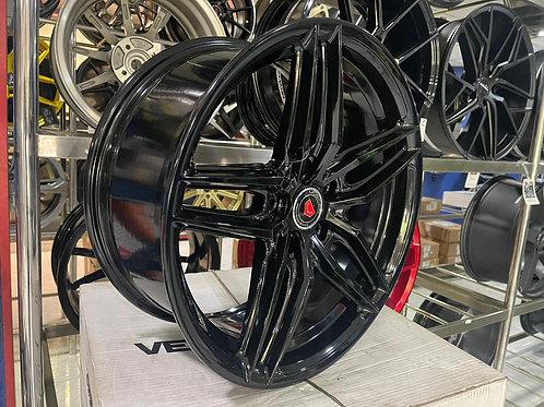 17x7.5 RIM-CAD-RM5583-17 ET38 Gloss Black Rims