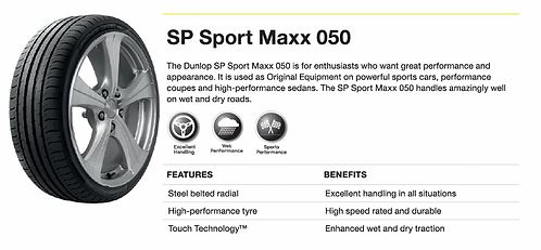 225/60R18 Dunlop SP Sport Maxx 050 Japan