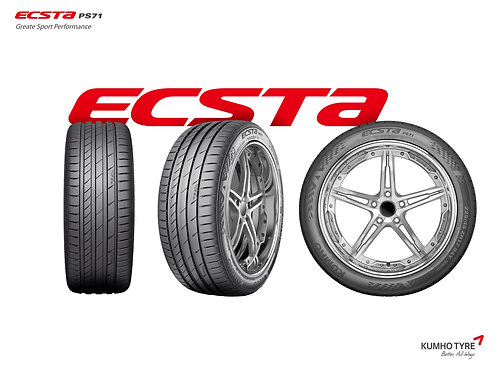 245/40R17 Kumho Ecsta PS71 XL 95Y Korea DOT2019