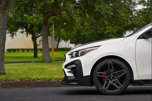 18x8.0 HPD Rims Hairpin Satin Black With Milled Edges