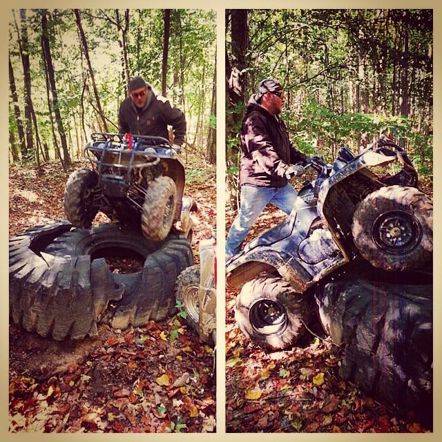 Instagram - Just having fun tire climbing, The ATV World style @bturner9691 @mel
