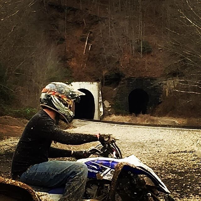 Who else is ready for riding season and warm weather_ #theatvworld #traintunnel #traintracks #atv #a