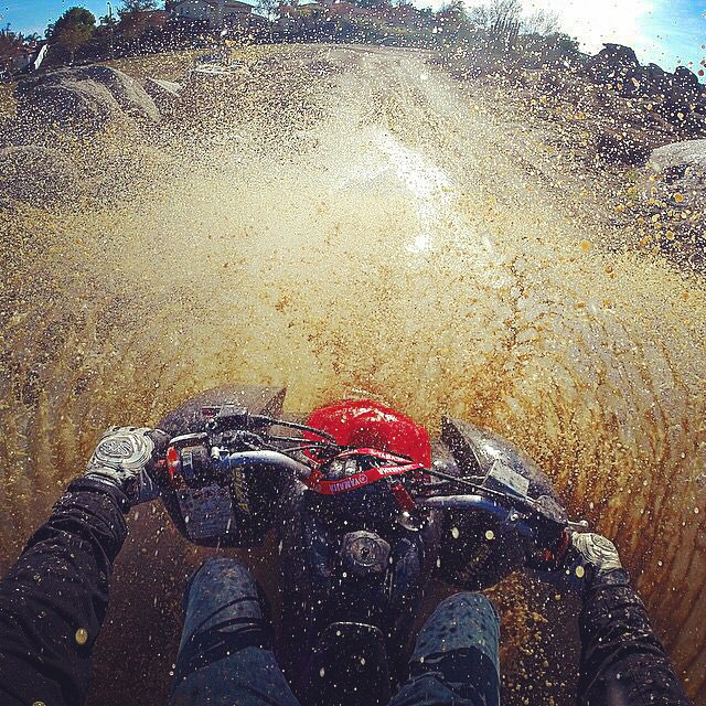 Instagram - What puddle?! When in doubt, just punch the throttle and go for it!!