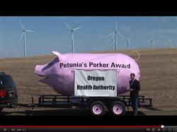 Petunia Grants A Porker Award