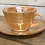 Thumbnail: Fire King Peach Lustre Cup and Saucer