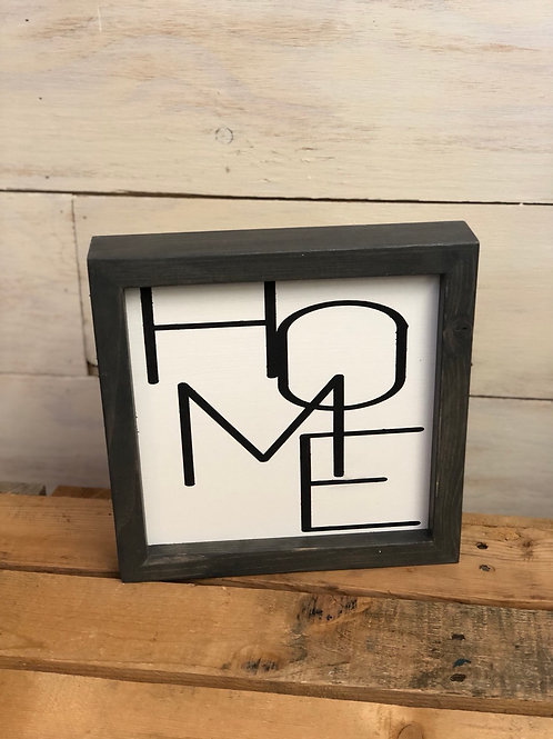 Modern Home - hand painted wood sign