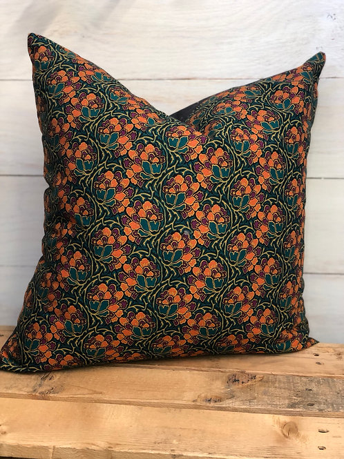 Rustic Floral Pillow -Sewing Mends My Soul