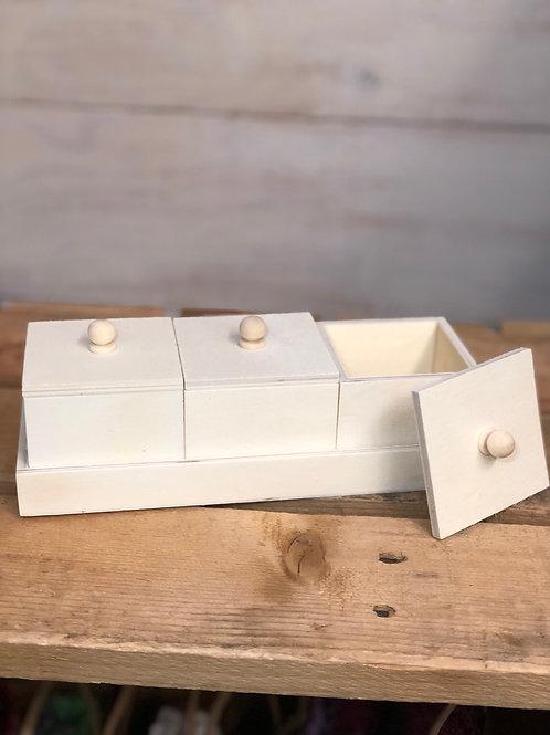 Wood Storage Boxes set of three