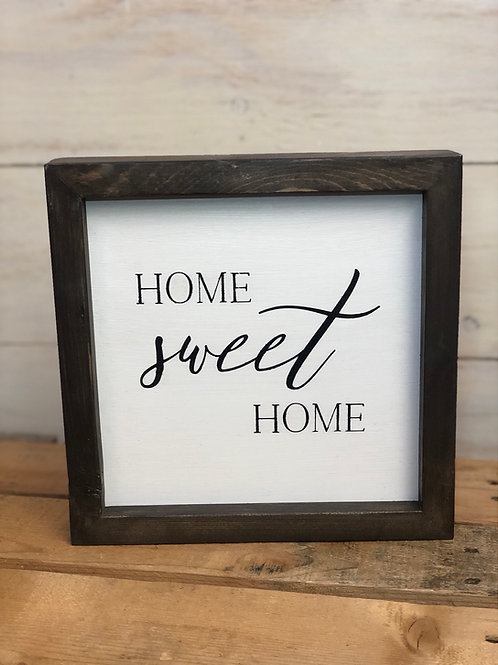 Home Sweet Home white Sign