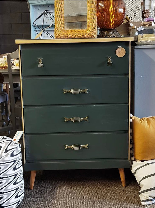 Green Mid Century Chest of Drawers