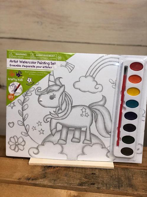 Watercolor Canvas Paint Kit