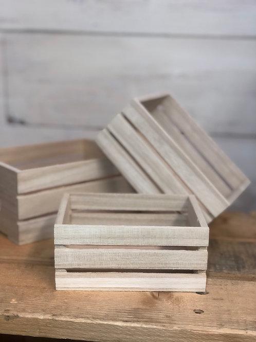 Mini Wood Crate set of 3.