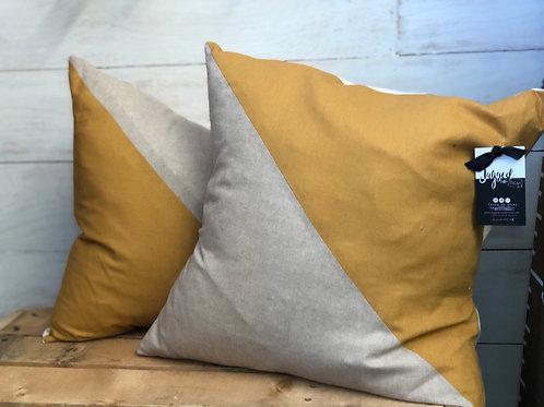 Mustard Geometric Pillow -Jagged Little Pillow