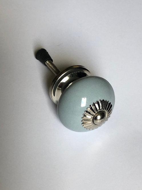 Grey Round Ceramic Knob