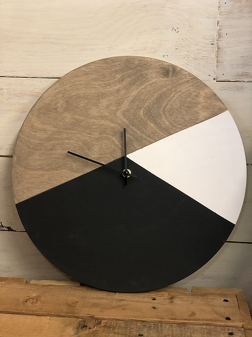 "16"" Modern Color Block Clock"