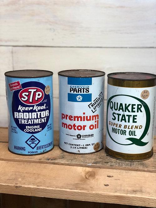 Vintage Oil Tins quart