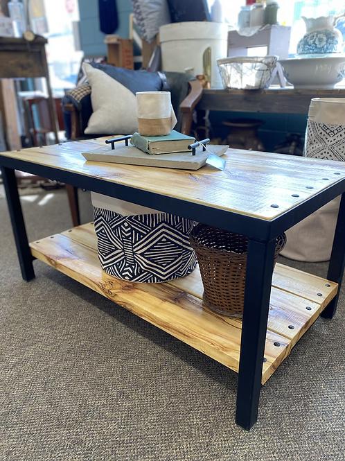 Hand Built Poplar and Steel Coffee Table