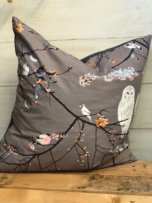 Grey Owl Pillow- Sewing Mends My Soul