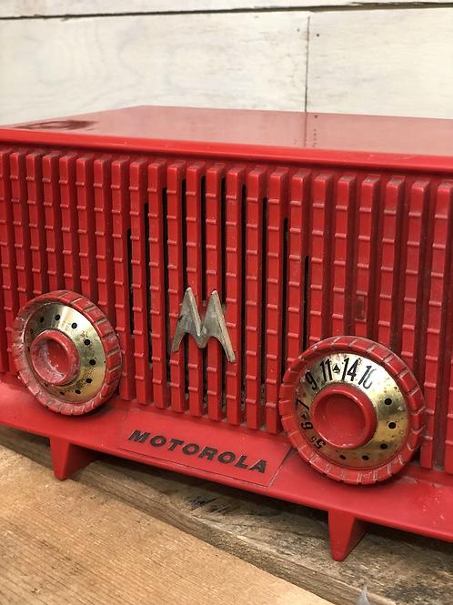 Vintage Motorola Red Radio