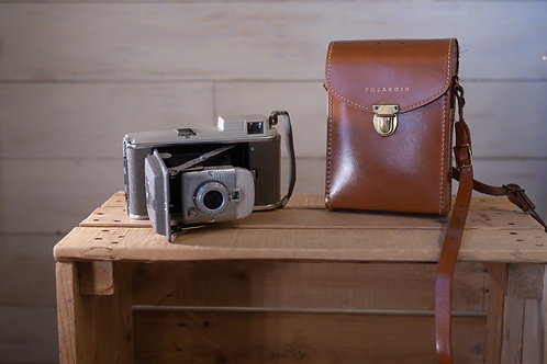 Vintage Polaroid Camera with leather case