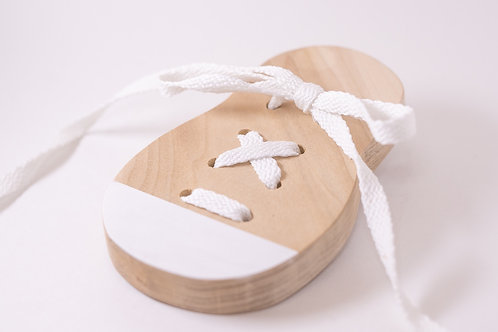 Wood Shoe Lacing Toy
