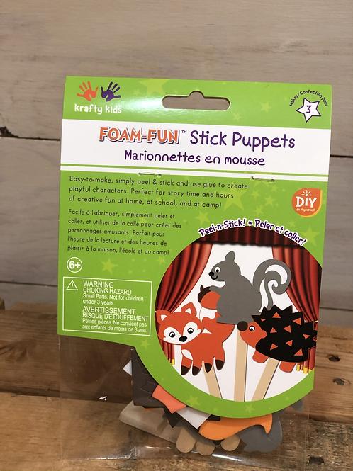 Foam Stick Puppets