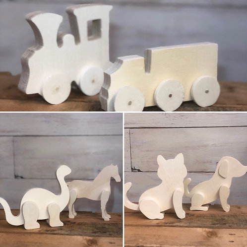 Paintable 3D Wood Toy