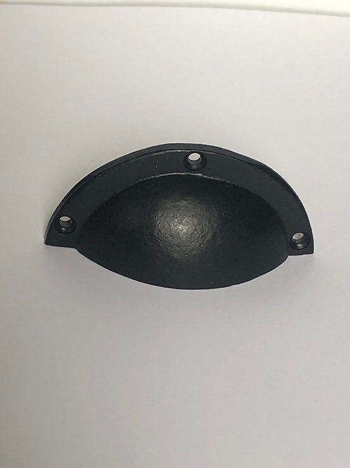 Black Cast Iron Round Cup Pull