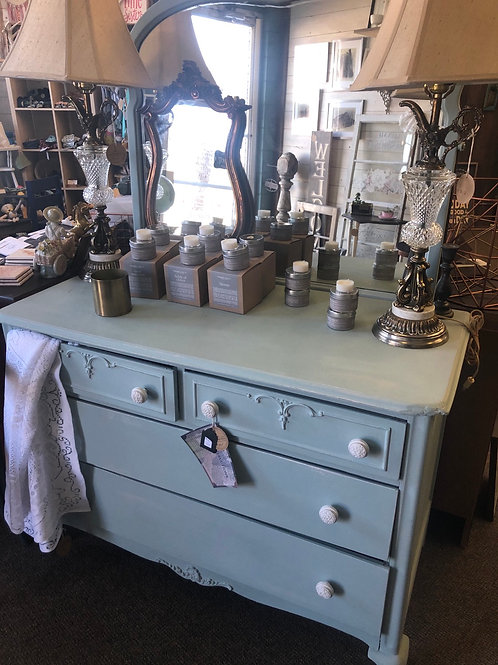 Pale Blue antique French Provincial Dresser