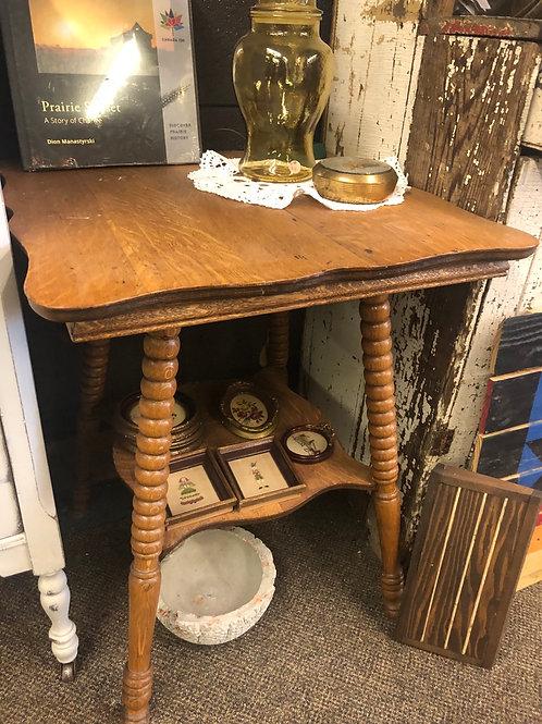 Antique Oak Parlour Table F-513