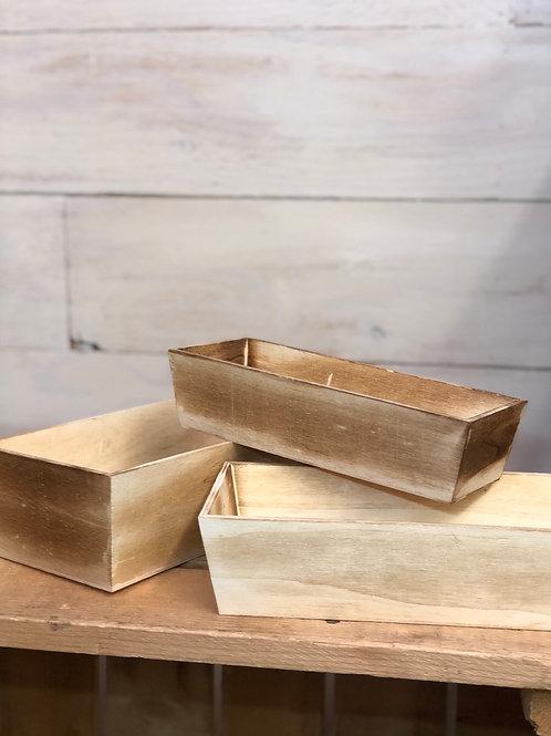 Wood Box Set of 3