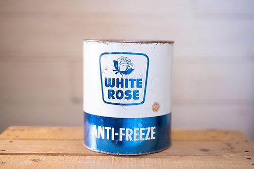 Antique White Rose Antifreeze Tin