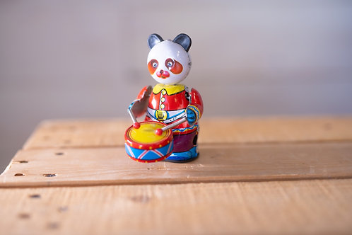 Tin Toy Drumming Bear