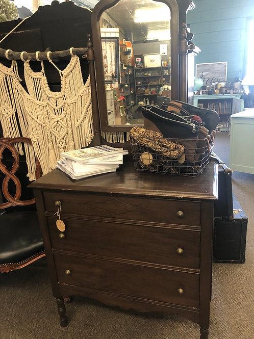 Antique Dresser with Mirror F-546