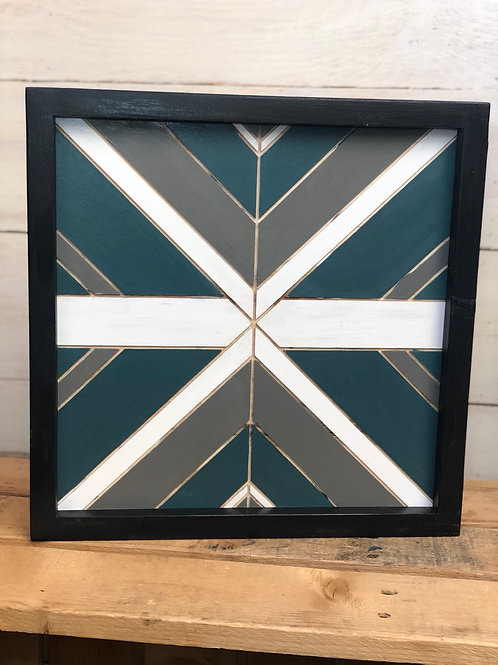 Aztec Painted Wood Sign