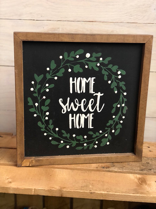 Home Sweet Home Sign -12x12