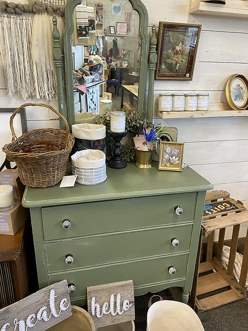 Green Dresser with mirror