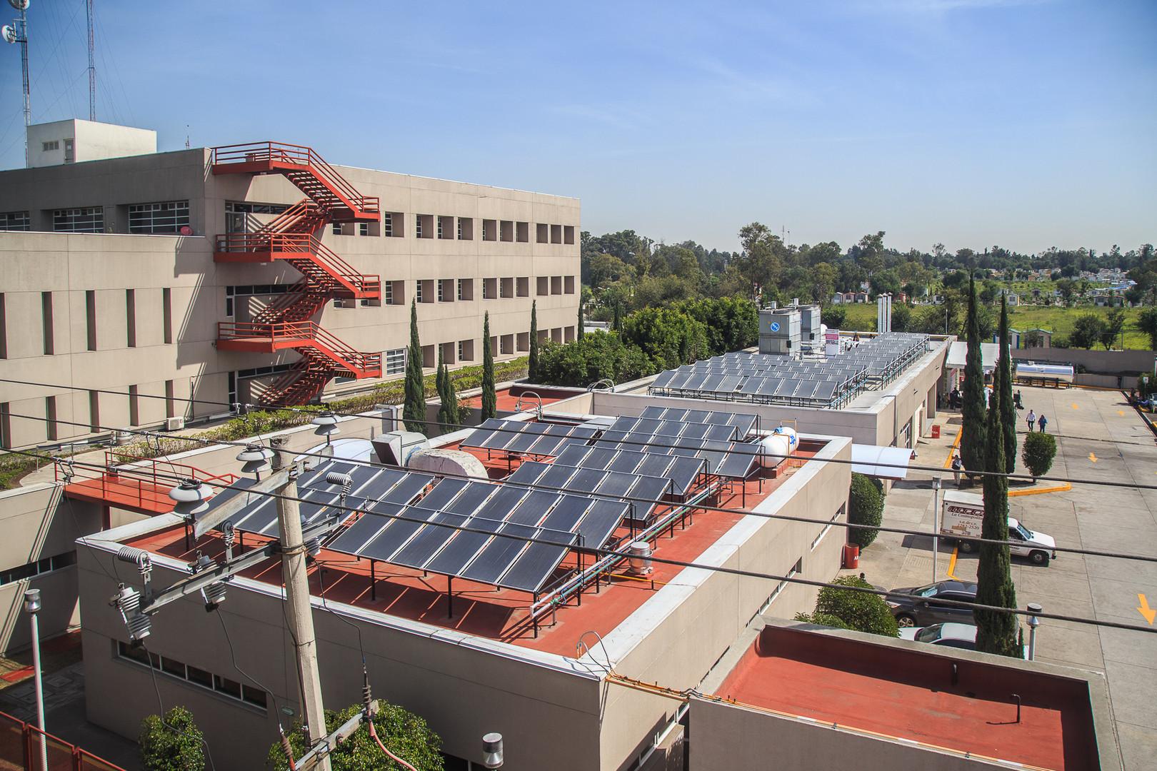 Calentadores solares en hospitales