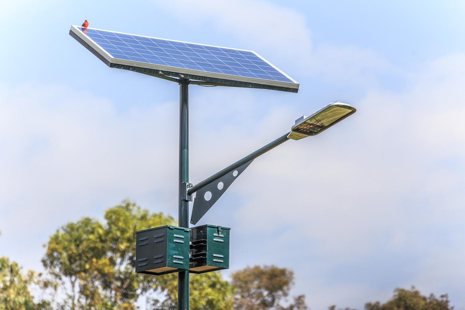 Iluminación con paneles solares