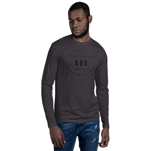 CHOSEN FOR GREATNESS LONG SLEEVE FITTED CREW