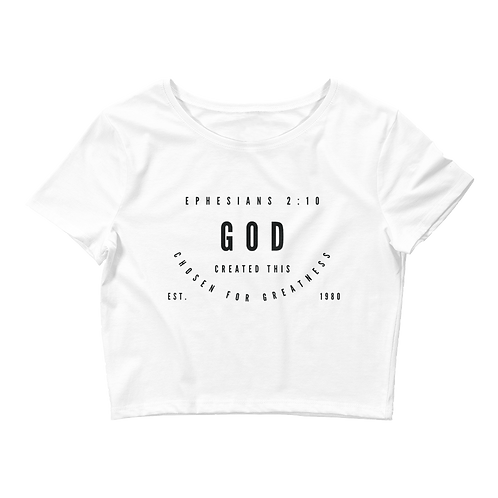 CHOSEN FOR GREATNESS CROP TEE