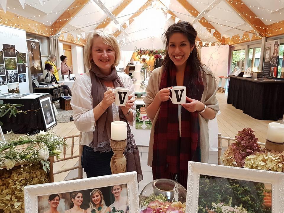 Julie and Isabelle at Doddington Hall 2017 Wedding Fair for Violet & Vine