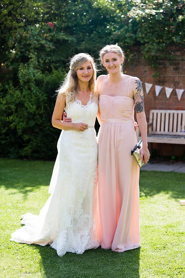 Daisy (left) and Jess (right) at Daisy's wedding - Hair by Isabelle