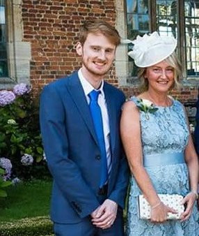Olly and Julie looking very dapper at Doddington Hall!
