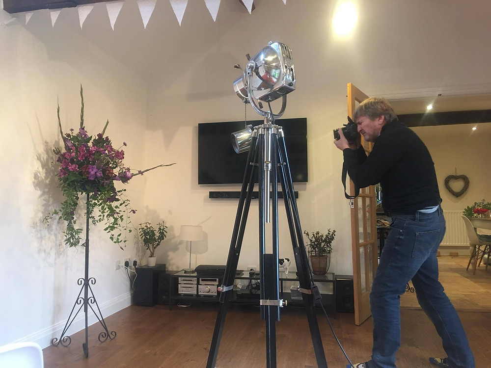 Floral photoshoot by David at Violet & Vine's Lincoln home