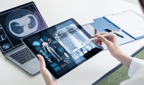 Medical technology concept. Med tech. El