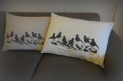 Linnut rantakivikolla-tyynyliiinat