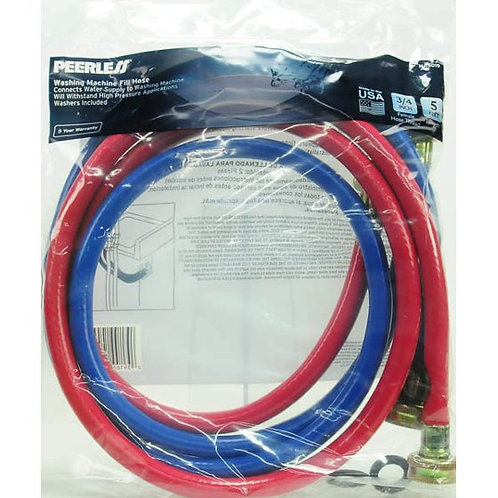 New: Pair of Rubber Hot and Cold Washing Machine Filler Hoses