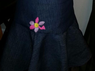 My Journey as a Fashion Design student ... my first skirt