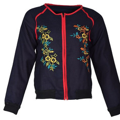 Heavy Cotton with Embroidery Bomber